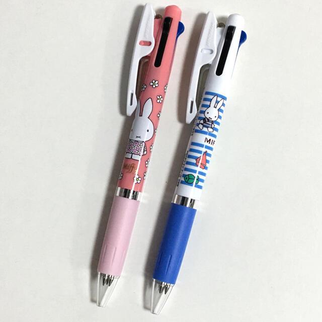 三菱鉛筆(ミツビシエンピツ)の《新品》ミッフィー ♡ジェットストリーム  3色ボールペン 2本セット インテリア/住まい/日用品の文房具(ペン/マーカー)の商品写真