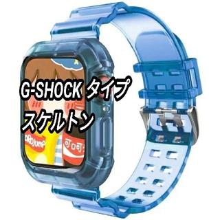 Apple Watch クリア 透明 スケルトン ベルト 42/44mm a(ラバーベルト)