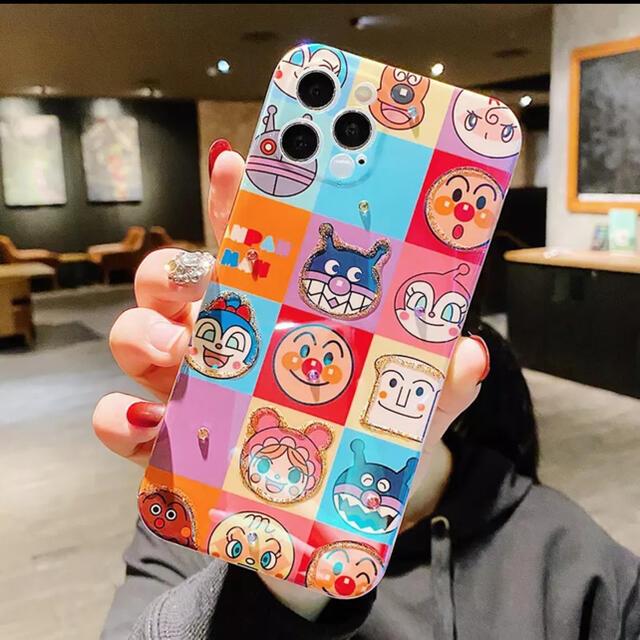 アンパンマン(アンパンマン)のiPhone Xs max カバー ケース アンパンマン ソフト キラキラ ラメ スマホ/家電/カメラのスマホアクセサリー(iPhoneケース)の商品写真