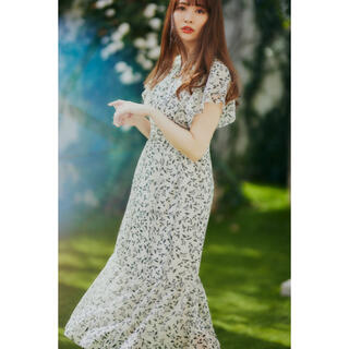 Her lip to Muguet-printed Romantic Dress