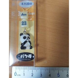 祝!上野動物園パンダ双子出産!パンダ366Days 6月23日 ストラップ未使用(キャラクターグッズ)