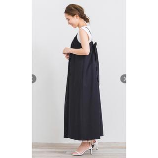 yori バックリボンキャミドレス ブラック