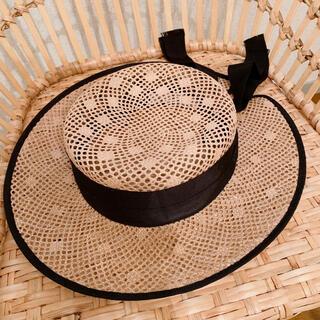 カシラ(CA4LA)のChapeau d' O 麦わら帽子 ヴィンテージライク ストローハット(麦わら帽子/ストローハット)