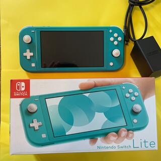 Nintendo Switch - Switch Lite ターコイズ 箱・アダプタ・あつ森DL版付き