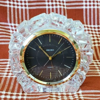 SEIKO - SEIKO  置き時計  セイコー レトロ ガラス 家電品