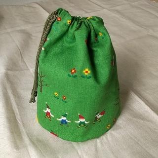 巾着袋 W約16.5cm☓H約18cm マチ約7cm 裏地なし コップ袋などに(バッグ/レッスンバッグ)