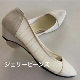 JELLY BEANS - 百貨店購入 ジェリービーンズ ローヒール パンプス 靴 シューズ 23.5cm