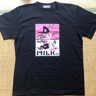 ミルクフェド(MILKFED.)の新品未着用 ミルクフェド MILKFED  黒半袖Tシャツ(Tシャツ(半袖/袖なし))