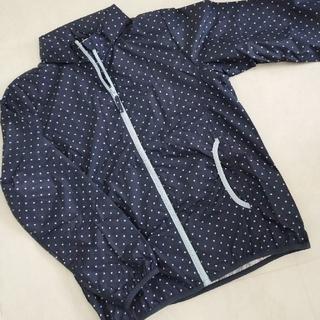イオン(AEON)の【未使用】☆キッズ 女の子 フード付きポケッタブルジャンパー 160㎝(ジャケット/上着)