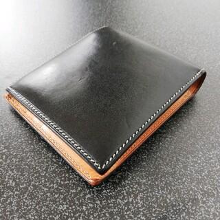【万双】二つ折り財布✨ブライドルレザー