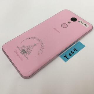 シャープ(SHARP)のY067 docomo Disney Mobile  DM-01K ピンク(スマートフォン本体)
