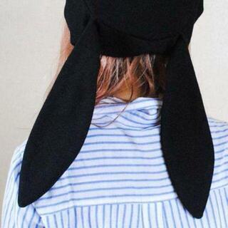 うさ耳 ベレー帽 耳つき 垂れ耳 可愛い ガーリー ハロウィン パーティー(ハンチング/ベレー帽)