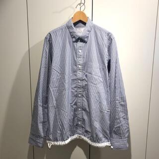 sacai - 美品 sacai サカイ ストライプ ドローストリングシャツ 2