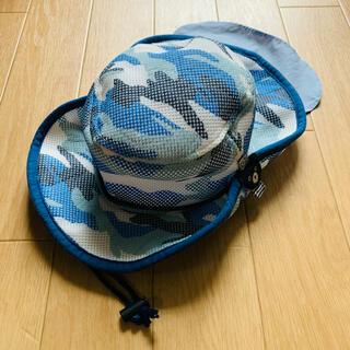 ダブルビー(DOUBLE.B)のダブルB 日よけフラップ付き ダブルラッセルテンガロンハット 帽子 54cm(帽子)