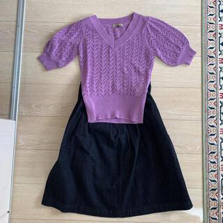 プロポーションボディドレッシング(PROPORTION BODY DRESSING)のサマーセーターとジーンズスカートセット(その他)