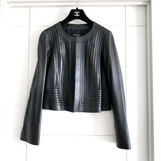 LANVIN COLLECTION - 新品未使用‼️ランバンコレクション 女性らしいラムレザー ノーカージャケット