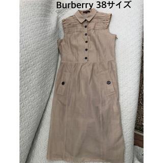 BURBERRY - 超美品本物バーバリーBurberry上質コットンシルク(絹)シャツワンピース♫
