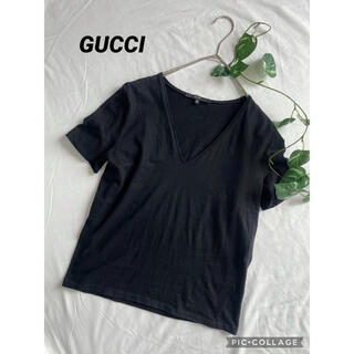 グッチ(Gucci)のグッチ GUCCI  VネックTシャツ(Tシャツ(半袖/袖なし))