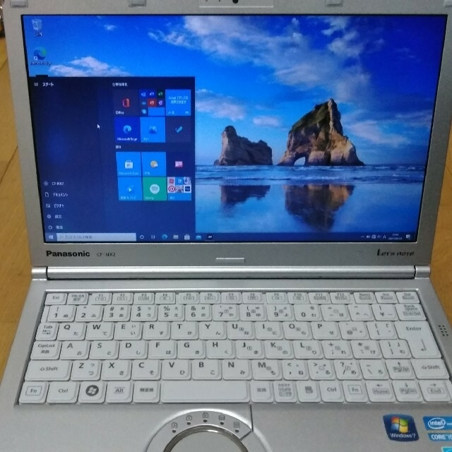 Panasonic(パナソニック)のノートパソコン CF-NX2 レッツノート Windows10  スマホ/家電/カメラのPC/タブレット(ノートPC)の商品写真