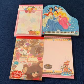 Disney - Disny ディズニー メモ帳 ミニレター お手紙