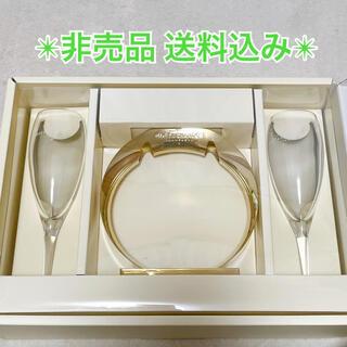 モエエシャンドン(MOËT & CHANDON)の【非売品】モエシャンドンペアグラス台座付き(グラス/カップ)