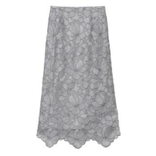 フレイアイディー(FRAY I.D)のシアーラメフラワーレーススカート FRAY I.D(ロングスカート)