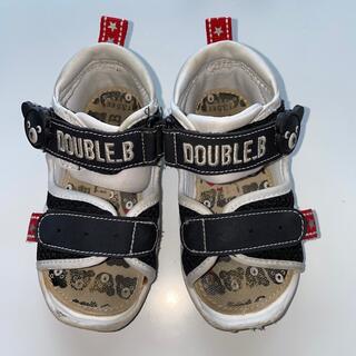 ダブルビー(DOUBLE.B)のDOUBLE.B ベビーサンダル 13.5(サンダル)