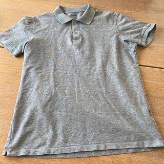ユニクロ(UNIQLO)のUNIQLO 鹿子 ポロシャツ グレー メンズL (ポロシャツ)