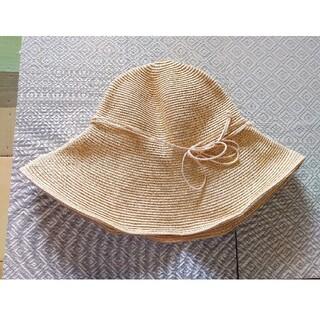 ユニクロ(UNIQLO)のユニクロ キャペリンハット ベージュ(麦わら帽子/ストローハット)