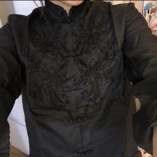 シルク100%チャイナシャツ(シャツ/ブラウス(長袖/七分))