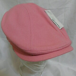 Gently キャンバス コットン ハンチング L/XL 未使用品 ピンク(ハンチング/ベレー帽)
