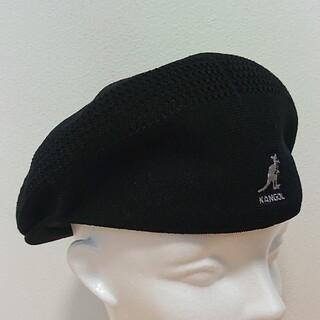 カンゴール(KANGOL)のL 良品 KANGOL TROPIC 504 VENTAIR ハンチング 黒(ハンチング/ベレー帽)