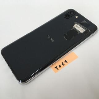 シャープ(SHARP)のY064 SoftBank AQUOS R2 706SH ブラック(スマートフォン本体)