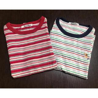 ファミリア(familiar)のファミリア 120㎝ 男の子用 ボーダー柄 Tシャツ 2枚セット(Tシャツ/カットソー)