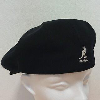 カンゴール(KANGOL)のM 良品 KANGOL SMU Tropic Galaxy ハンチング 黒(ハンチング/ベレー帽)