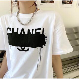 数量限定!! ペンキロゴTシャツ ホワイト 韓国