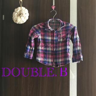 ダブルビー(DOUBLE.B)のダブルビー リバーシブルチェックボタンシャツ(Tシャツ/カットソー)