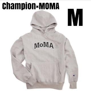 モマ(MOMA)の【納品書付きM】★Champion×MoMA チャンピオン×モマ★ロゴフーディ(パーカー)