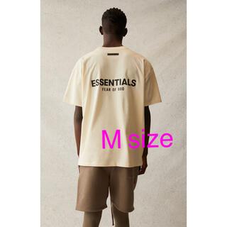 FEAR OF GOD - FOG-Essentials Logo T-shirt / Cream