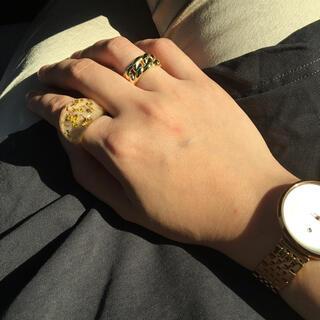 ザラ(ZARA)の樹脂リング ゴールド×クリア(リング(指輪))