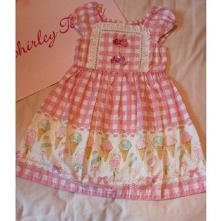 Shirley Temple - 美品 120 アイスバー ワンピース ピンク シャーリーテンプル