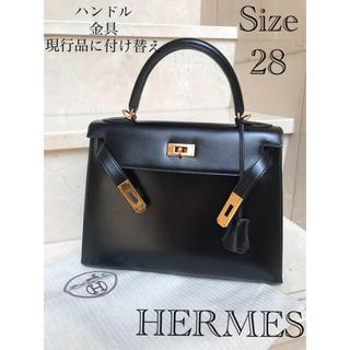 Hermes - エルメス   ボックスカーフ  ケリー28 ノアール