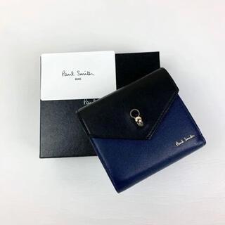 Paul Smith - 【新品】ポールスミス Paul Smith コンパクト財布 バイカラー 黒×青