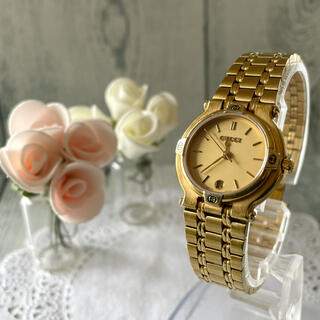 グッチ(Gucci)の【動作OK】GUCCI グッチ 腕時計 9200L ゴールド レディース(腕時計)