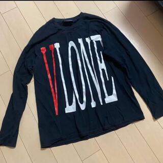 VLONE ヴィーローン 黒 ロンt(Tシャツ/カットソー(七分/長袖))