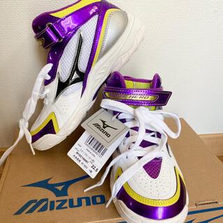 ミズノ(MIZUNO)の新品 未使用 ミズノ バッシュ 22.5cm ウェーブヒーローBB3 バスケット(バスケットボール)