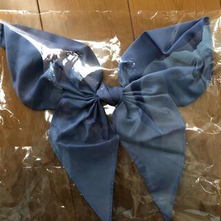新品 未使用 制服 女子 セーラー服用 スナップタイプ スカーフ 水色