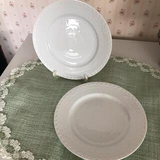 ROYAL COPENHAGEN - ロイヤルコペンハーゲン☆ホワイトフルーテッドハーフレース17㎝ 小皿2枚