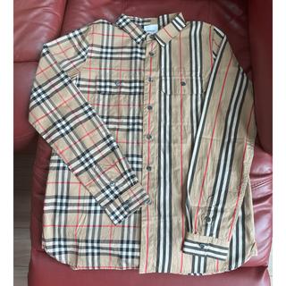 バーバリー(BURBERRY)のBurberry バーバリー シャツ ストライプ チェック 14Y(Tシャツ/カットソー)