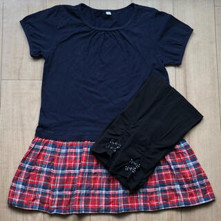 MUJI (無印良品) - 無印良品  半袖 チュニック 130 スパッツ 120 女の子 夏服 まとめ売り